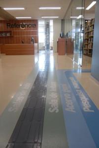 Sinalização da biblioteca